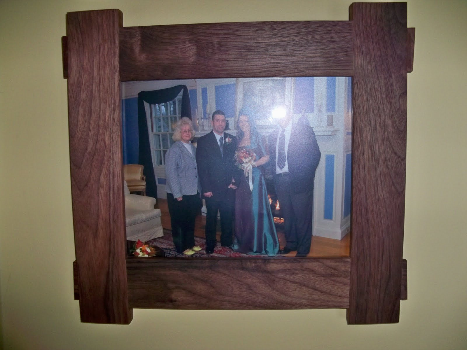 Picture frame creative woodworking walnut picture frame for 8 x 10 photo jeuxipadfo Images