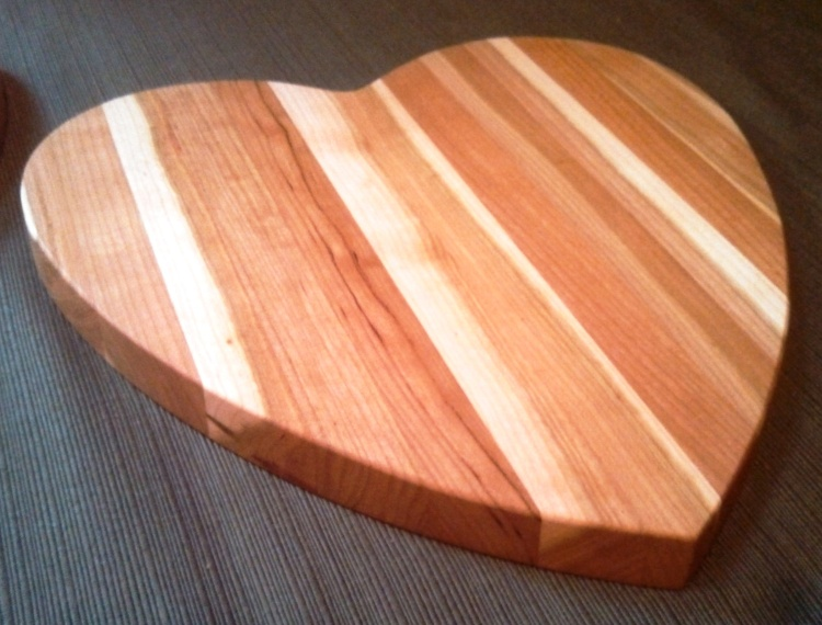Hearts! Shown in Rustic Cherry.