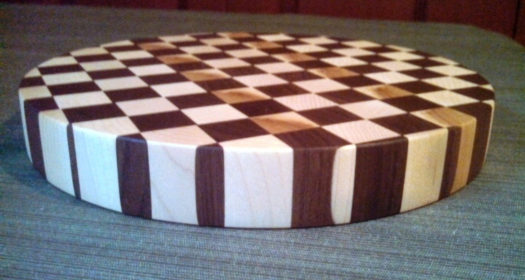 Maple and Walnut End Grain