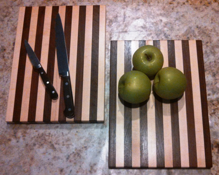 Maple - Walnut and Walnut - Maple Cutting Boards
