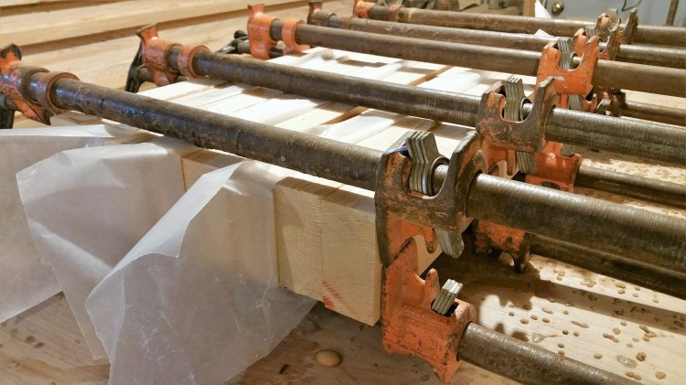 table legs glued up